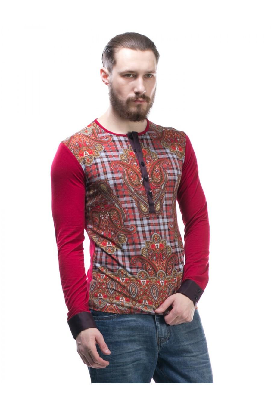 Красный мужской свитер G-307-1