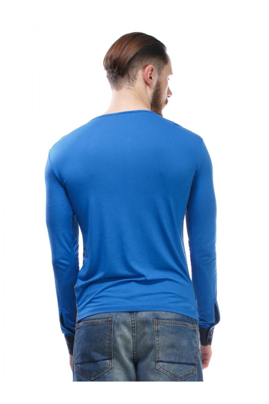 Синий мужской свитер G-307