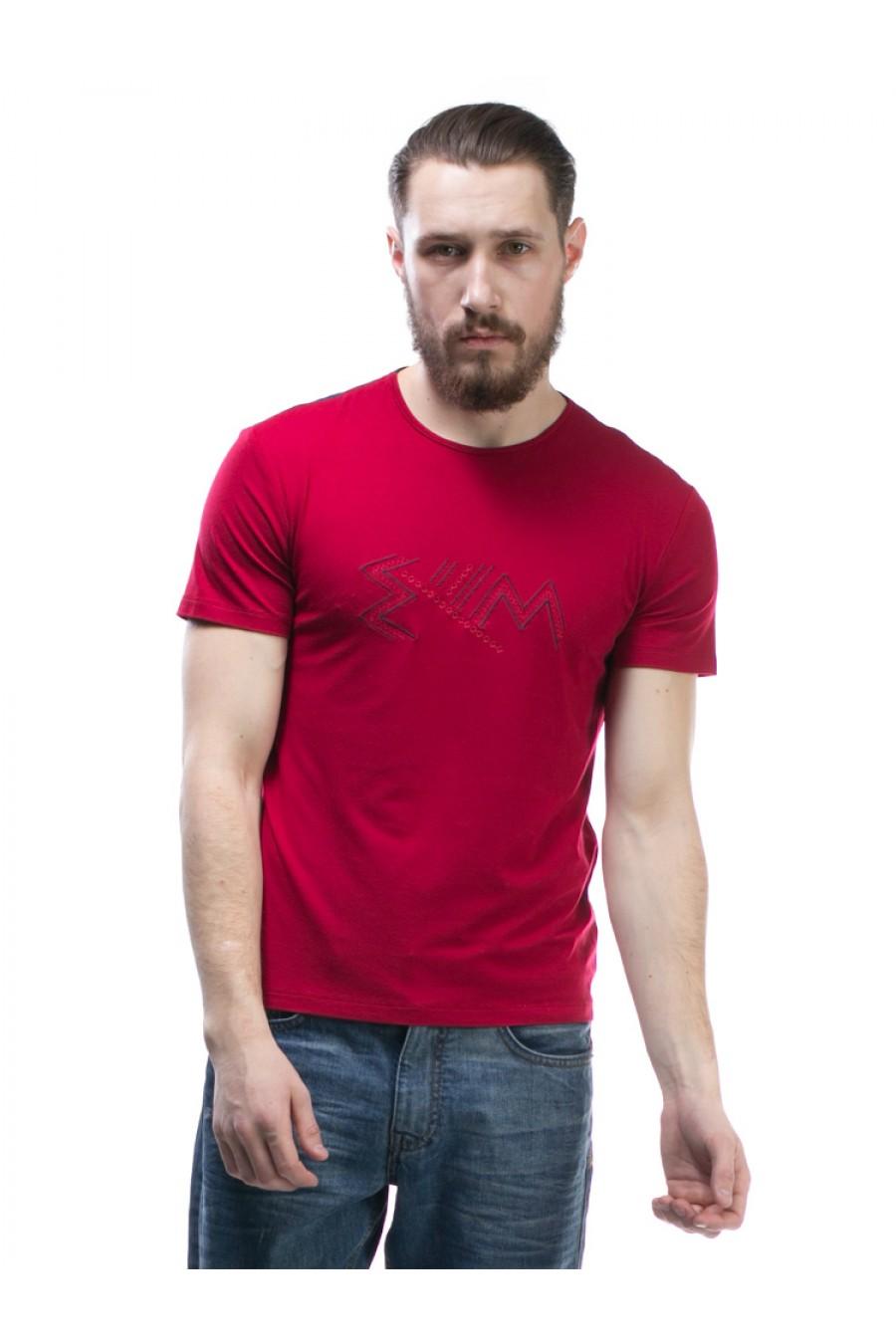 Мужская футболка с вышивкой F-401