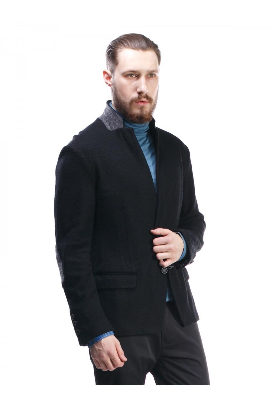 Черный мужской пиджак Р-204-3