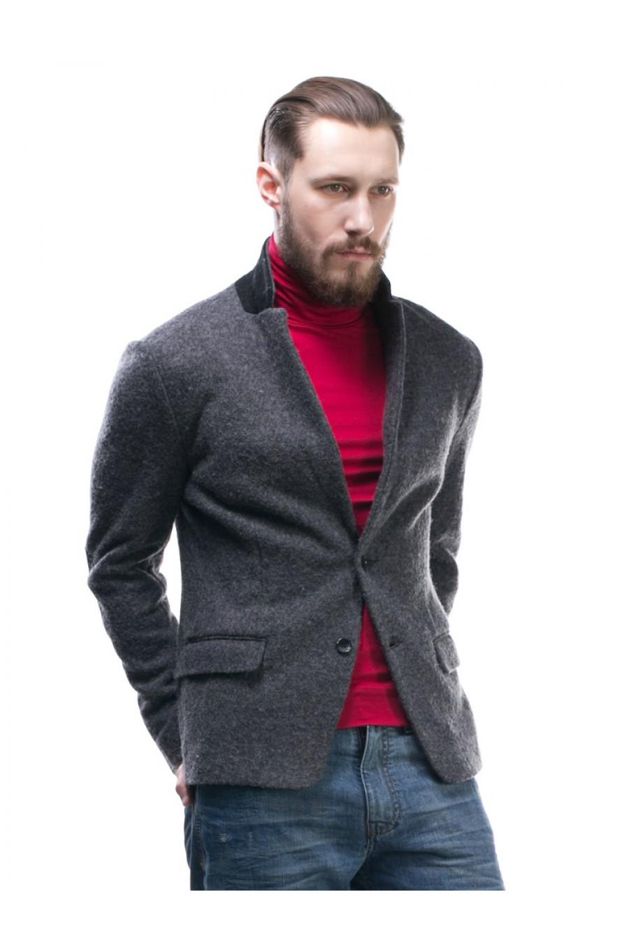 Серый пиджак мужской Р-204-2