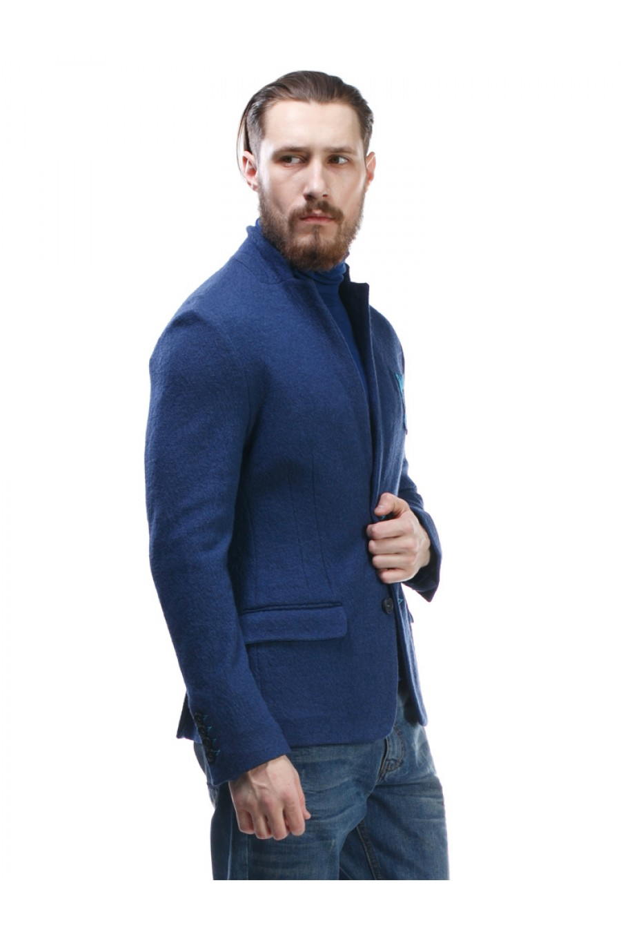 Синий пиджак мужской Р-204