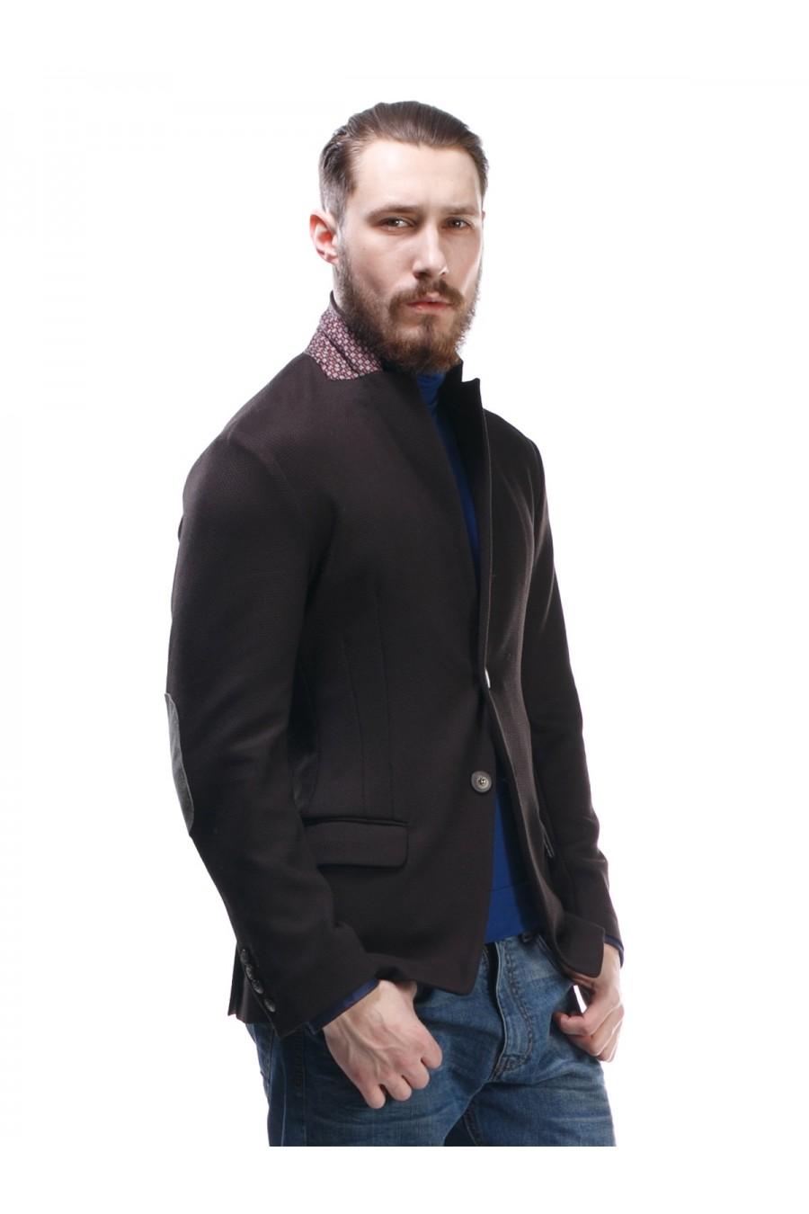 Коричневый пиджак мужской Р-206-1
