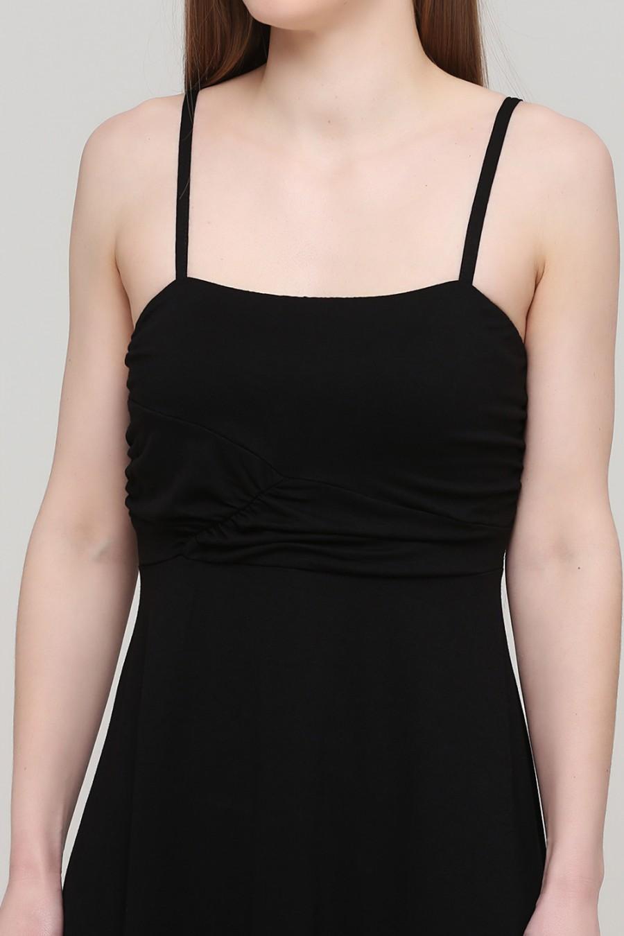 Черное трикотажное платье BODYFLIRT 956273