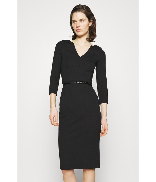 Черное трикотажное платье ANNA FIELD