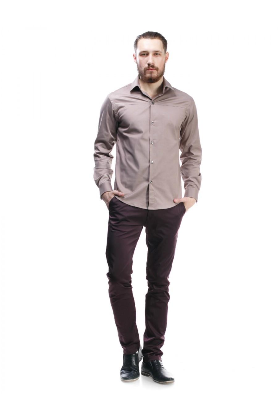 Бордовые мужские брюки Н-004