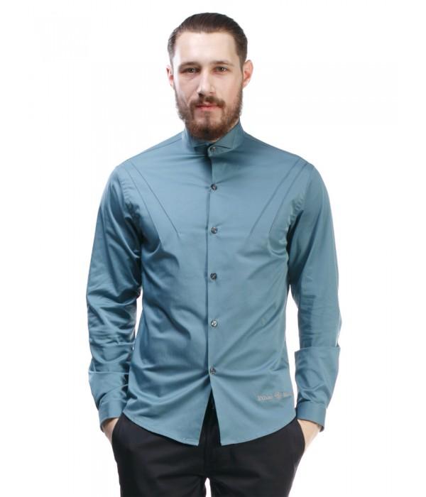 Мужская рубашка с выточками S-106