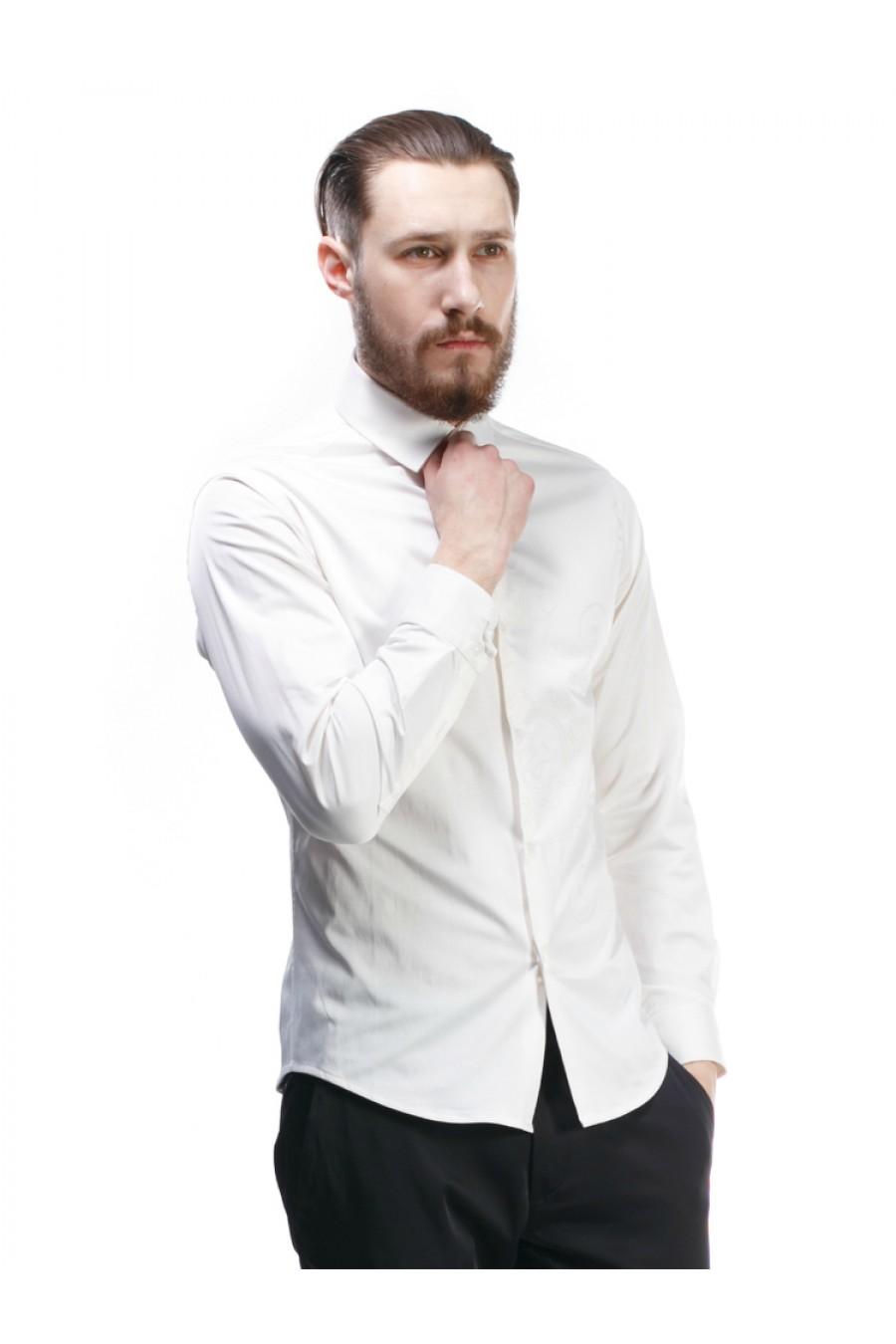 Рубашка с вышивкой на груди S-102