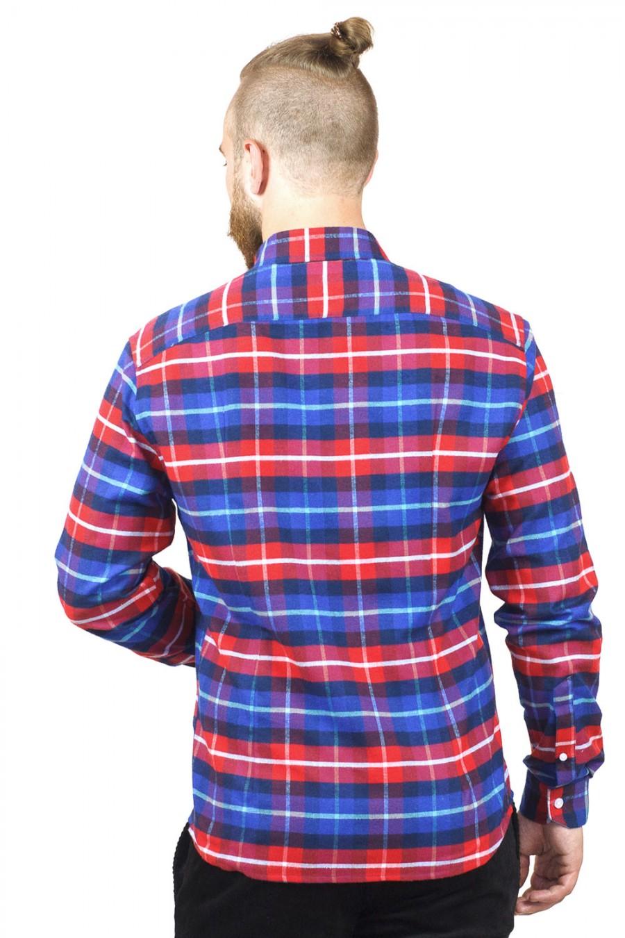 Красная клетчатая рубашка S-109-1