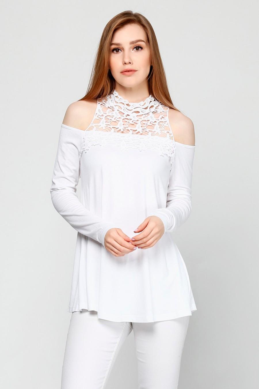 Женский лонгслив BODYFLIRT 955635 белый